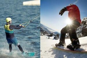 wakeboarding vs snowboarding