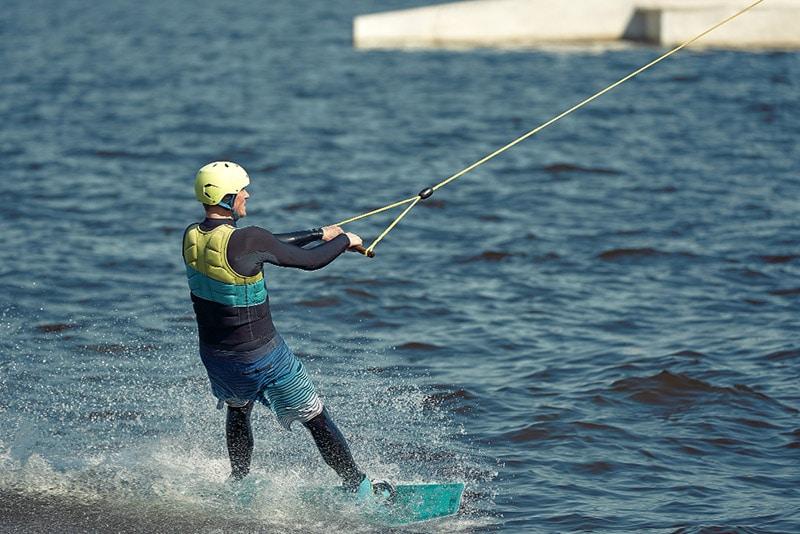 guy wakeboarding