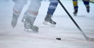 hockey game close up